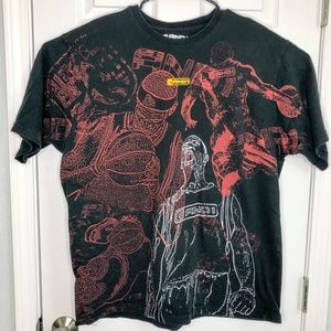 AND1 Mens Extra Large Graphic Basketball T-shirt